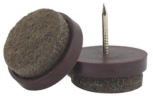 Vendu par 4 Patin feutre marron /à clouer PVM Diam/ètre 24 mm