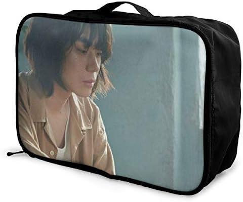 Suda Masaki 旅行用トロリーバッグ 軽量 ポータブル荷物バッグ 衣類収納ケース キャリーケース 固定 出張パッキング 大容量 トラベルバッグ ボストンバッグ キャリーオンバッグ 旅行用サブバッグ