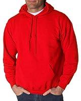 Gildan Men's Athletic Drawstring Hooded Sweatshirt, Red, XX-Large