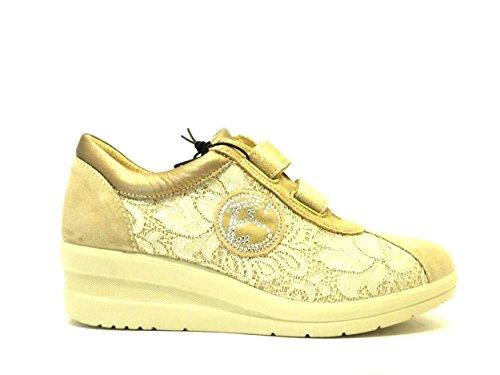 pizzo in soft sneaker Beige e donna camoscio Enval nCIP1vqxp