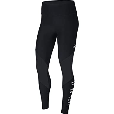 06931a3aca914 NIKE W NK PWR TGHT MSH WRP GRX GYM Women's Graphic Training Tights, Black,  Large at Amazon Women's Clothing store: