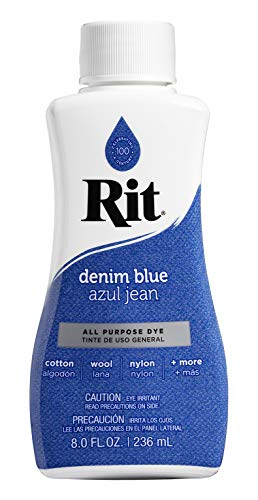 Rit Dye Liquid Fabric Dye, 8-Ounce,  Denim Blue