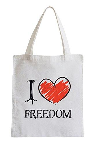 Amo Divertirsi Libertà sacchetto di iuta