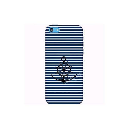 Coque Apple Iphone 5c - Ancre Barre Marine