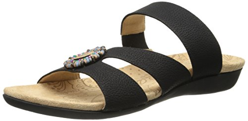 Acorn Sandals (Acorn Women's Samoset Slide Sandal,Black Shell,6 M US)