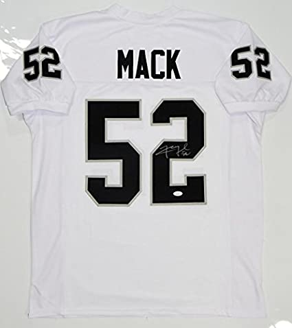 info for 0c1b1 2cd3b Autographed Khalil Mack Jersey - White Pro Style Witnessed ...