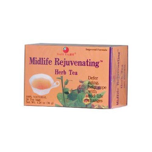 Health King Midlife Rejuvenating Herb Tea, Teabags, 20-Count Box by Health (Midlife Rejuvenating Herb Tea)