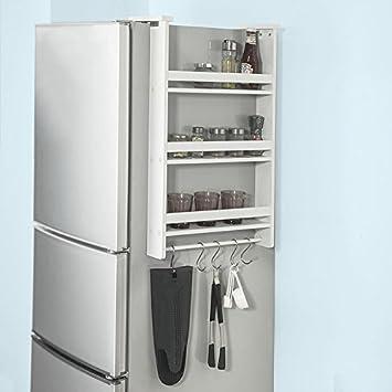 SoBuy FRG149-W Hängeregal für Kühlschrank mit 5 Haken Türregal ...