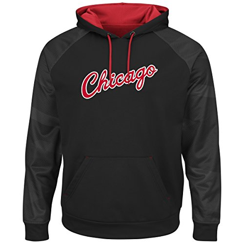 Majestic NBA Men's Armor II Polyester Pullover Hoodie (Large, Chicago Bulls) by Majestic