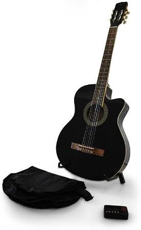 Ibiza Sound - Set Guitarra Clasica - Negro Guitarw-Pack-B: Amazon.es: Instrumentos musicales