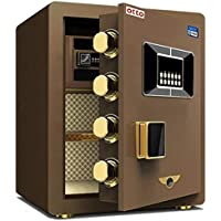 OTTO Electronic Safe Digital Security Box Home Office (Brown)