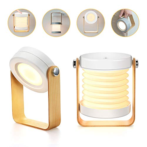 Bromose – Lámpara de mesilla de noche regulable táctil, luz nocturna para bebé, portátil, mini lamparas de mesa, 3 modos…