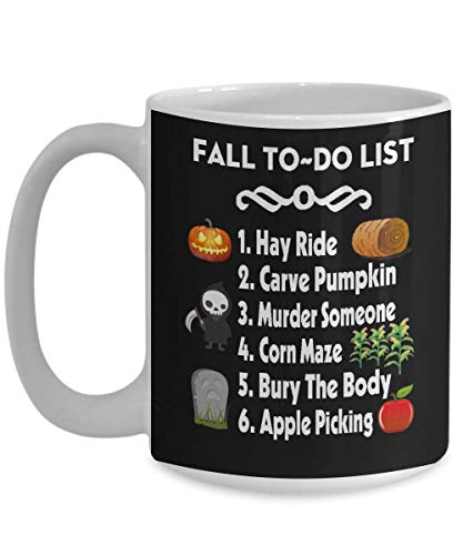 Autumn Mug Fall to do list Funny Office Work Pumpkin Best Halloween Costumes Coffee Mug, Funny, Cup, Tea, Gift For Christmas, Father's day, Xmas, Dad,