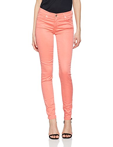 0bs Skinny The Jeans 7 Femme For Rouge Mankind Coral All xIwqzqg