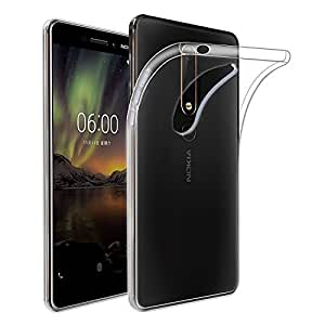 for Nokia 6.1/Nokia 6 2018 Clear Case Soft Gel Clear Transparent TPU Thin Slim Case Cover (Clear Transparent Case)