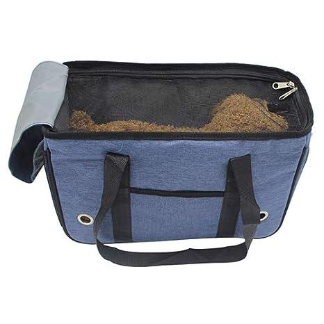 QNMM Pet Dog Car Seat Cover Mesh Breathable Side Pocket Mochila Portátil para Mascotas Adecuado para Gatos Pequeños Y Medianos Y Perros: Amazon.es: ...