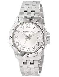 Raymond Weil Men's 5599-ST-00658 Tango Stainless Steel Case and Bracelet Silver Dial Watch