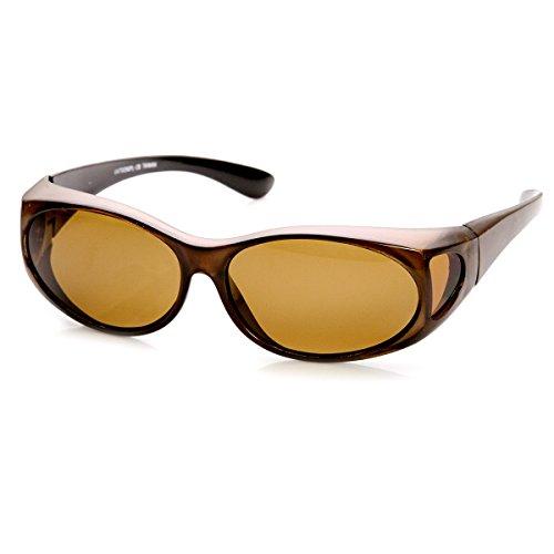 zeroUV - Polarized Cover Fit On Overlap Full Protection Sunglasses - Sunglasses Coverage Best Full