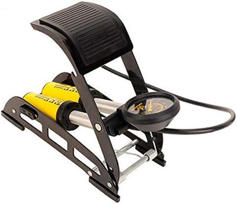 EDK Mountainbike Doppelrohrpumpe Tragbare Luftpumpe Reifen Fußpumpe Manometer Auto Rennrad MTB Motorrad Reifen Doppel-Zylinder-Luftpumpe