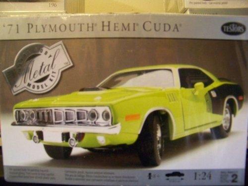 - 1971 Plymouth Hemi Cuda Metal Body Kit by Testors 1:24