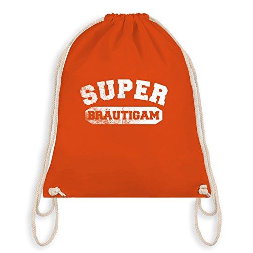 Shirtracer JGA Junggesellenabschied - Super Bräutigam Vintage - Turnbeutel I Gym Bag Orange MbkTKUeAke