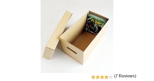 CUIDATUMUSICA Caja DE CARTÓN Solido para Guardar 150 Discos DE Vinilo Singles 7