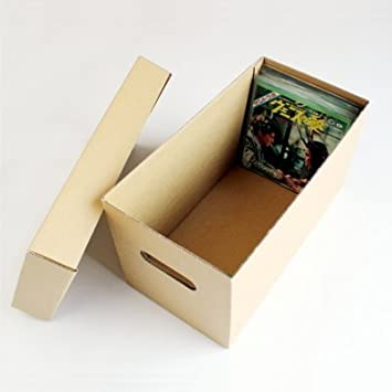 """CUIDATUMUSICA Caja DE CARTÓN Solido para Guardar 150 Discos DE Vinilo Singles 7"""" Y EP"""