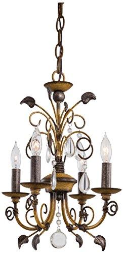 Minka Lavery Candle - Minka Lavery Crystal Chandelier Lighting 3127-126, Mini Candle, 4 Light, 160 Watts, Walnut
