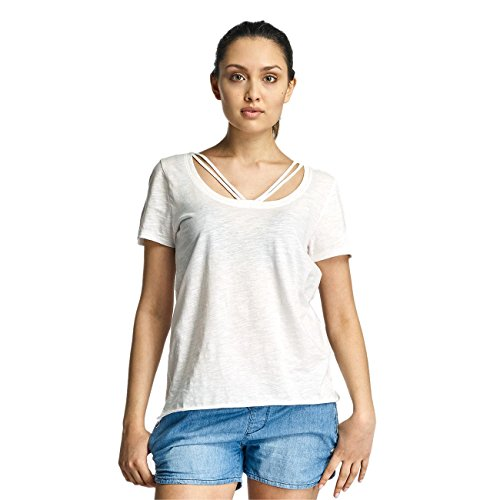 Only Mujeres Ropa superior / Camiseta onlLeah Bone blanco