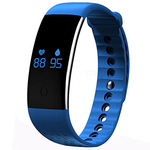 AWOW Waterproof Fitness Tracker Bluetooth Calorie Counter Watch with SP02 Portable Blood Oxygen Monitor Watch for Aerobic Exercise Black by AWOW