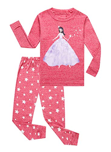 Princess Little Girls Long Sleeve Pajamas 100% Cotton Pjs Toddler Size 2T