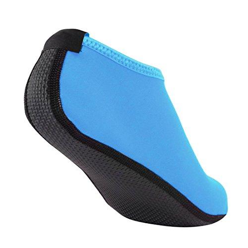 Nlife Barefoot Waterschoenen Aqua Sokken Voor Strand Surf Zwembad Swim Yoga Aerobics (mannen & Vrouwen, M-xxxl) Blauw