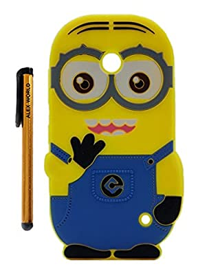 Nokia Lumia Case, Cute Cartoon 3D Despicable Me Minion Soft Silicione Case Cover for Nokia Lumia from ALEX WORLD