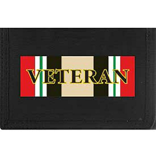 Iraqi Freedom Service Colors Heavy Duty Nylon Velcro Wallet by EE