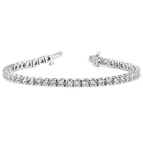 Icecarats Créatrice De Bijoux Or Blanc 14K Bracelet Aa Diamants De Tennis Dans 7 Pouces