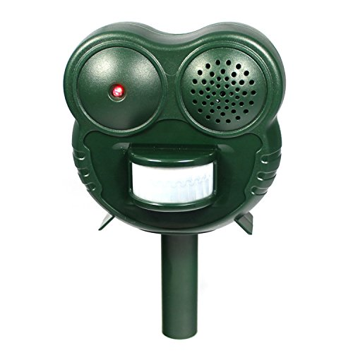 Pest Repeller Ultrasonic: Zaptya Humane Animal Repellent with Motion Activated LED Light and Ultra-sonic Deterrent