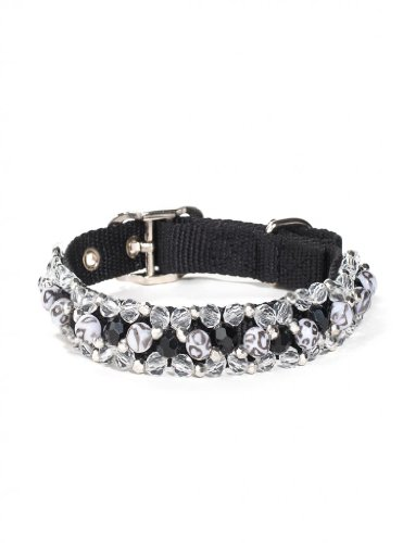 Fabuleash 16 Inch Beaded Dog Collars - SNOW LEOPARD