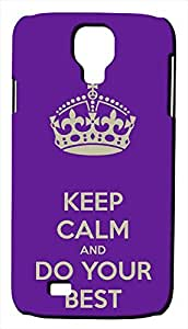 Generic Keep Calm and Do Your Best Purple Phone Case for iPhone 5C Rubber Blue wangjiang maoyi