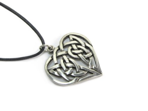 Heart Celtic Weave Pendant on Cord Necklace, The Celtic (Celtic Heart Pendant)