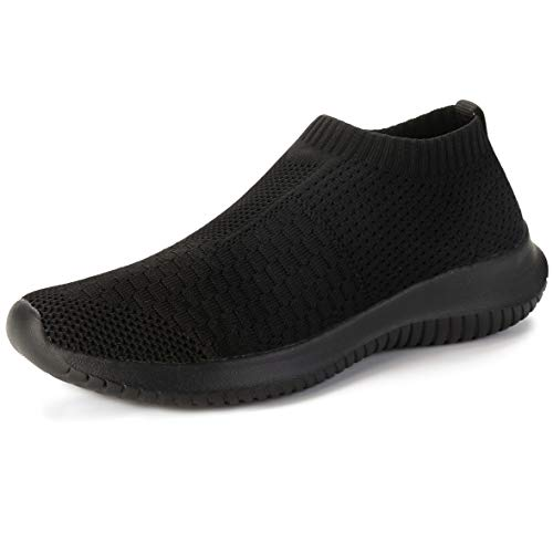 6d05470d0ce4a Scurtain Fashion Slip-on Shoes Women Causal Sneaker for Travel Sports All  Black 11 M