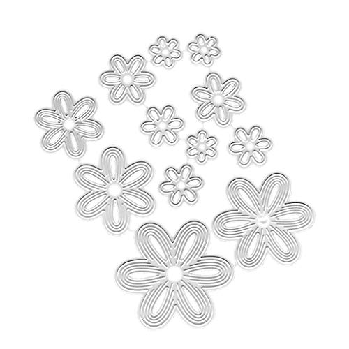 Milue 1 Set Carbon Steel Flower Petal Cutting Die Embossing Stencil Templates Mold Paper DIY Art Craft Scrapbook Book Card Decor ()