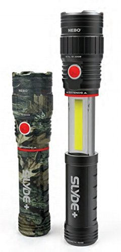 NEBO 300-Lumen LED Magnetic Flashlight: With 200 Lumen COB LED Work Light; Feature Rich Piece of Gear - NEBO Slyde+ (PLUS) 6525