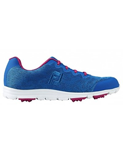 FootJoy Damen Aspire Golfschuhe EUR 40.5 US 9 UK7 weiss/blau v3uE7ghFR7