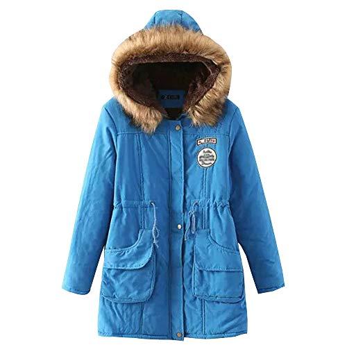 Con Colori Blu Cappuccio Da Parka Giubbini Cappotti Invernale Calda Donna 15 Giacca Bozevon Disponibili Soprabito zwCSxq76g