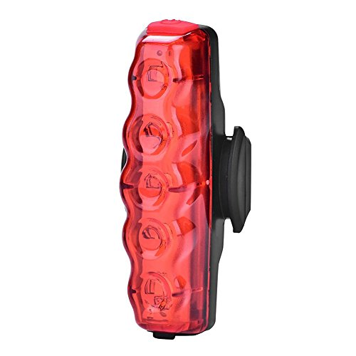 Outdoor Waterpoof USB Rechargeable Bicycle Tail Light Ultra Bright Bike Light Cyborg Red High Intensity Rear LED Accessories Fits On Any Road Bikes. Easy To Install for Cycling Safety (Cyborg Lamp)