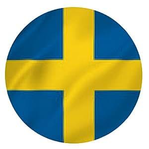 alfombrilla de ratón bandera sueca - ronda - 20cm