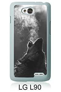 Winter Wolf Howling White New Style Custom LG L90 Cover Case