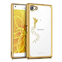 kwmobile Crystal TPU Silicone Case for Sony Xperia Z5 Compact in gold transparent Design fairy