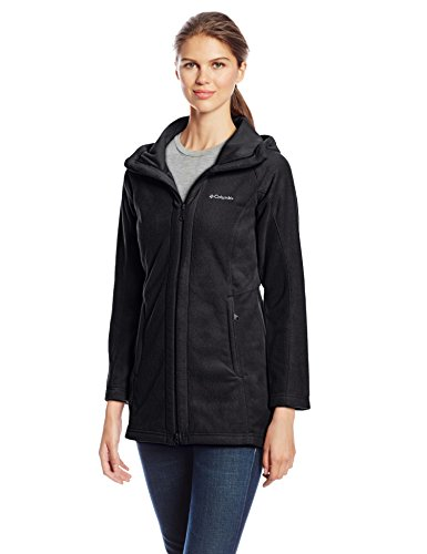 Columbia Women's Benton Springs II Long Hoodie, Black, Large