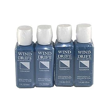 English Leather Wind Drift Cologne by Mem for Men. Cologne Splash 4 X 1.0 Oz